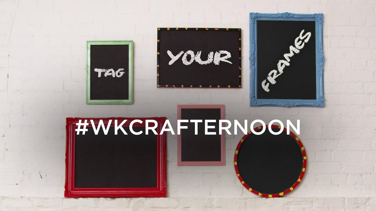Create picture frame chalkboards with the White Knight range
